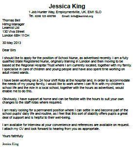 Sample of internship cover letter
